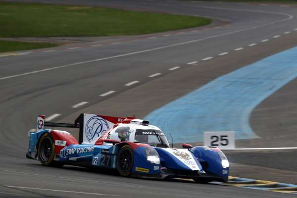 2016 Le Mans 24 Hours Test day, Le Mans, France. 5th June 2016. Nicolas Minassian / Maurizio Mediani / Mikhail Aleshin - SMP Racing BR01-Nissan. World Copyright: Ebrey / LAT Photographic.