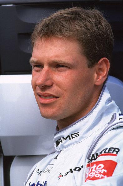 2001 DTM TestingHockenheim, Germany. 5th April 2001.Eschmann Mercedes-Benz CLK driver Bernd Maylander - portrait.World Copyright: Peter Spinney/LAT Photographic.