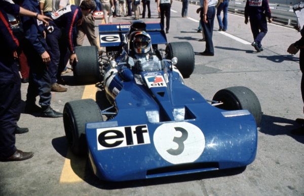1971 German Grand Prix.Nurburgring, Germany.29/7-1/8 1971.Francois Cevert (Tyrrell 002 Ford) 2nd position.Ref-71 GER 12World Copyright - LAT Photographic