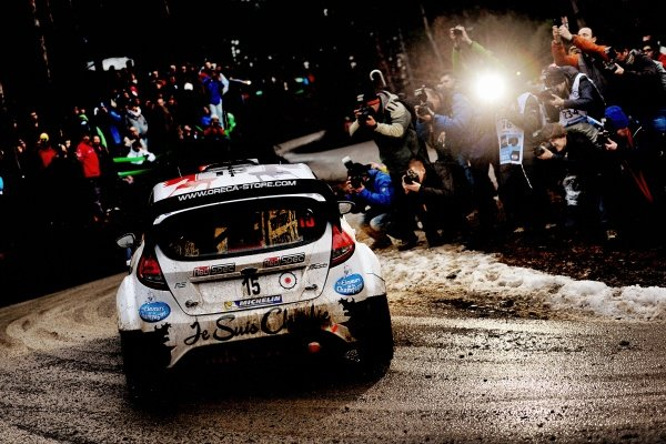 www.sutton-images.com -  Bryan Bouffier (FRA) and Xavier Panseri (FRA) Ford Fiesta RS WRC at the FIA World Rally Championship, Rd1, Rally Monte Carlo, Preparations and Shakedown, Monte Carlo, 22 January 2015. Photo Sutton Images