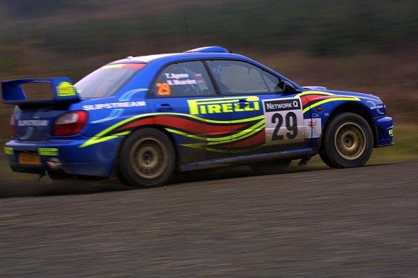 2001 FIA World Rally Championship.Rally Of Great Britain. Cardiff, Wales. November 22-25th.Neil Weardon, Subaru Impreza WRC.Stage Five.Photo: Paul Dowker/LAT Photographic.World - LAT Photographic.8 9mb DIgital File Only