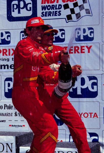 1996 CART Laguna SecaAlex Zanardi celebrates-1996, Michael L. LevittLAT Photographic