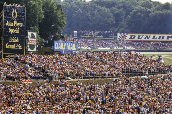 Fans in their thousands at the grand prix.
