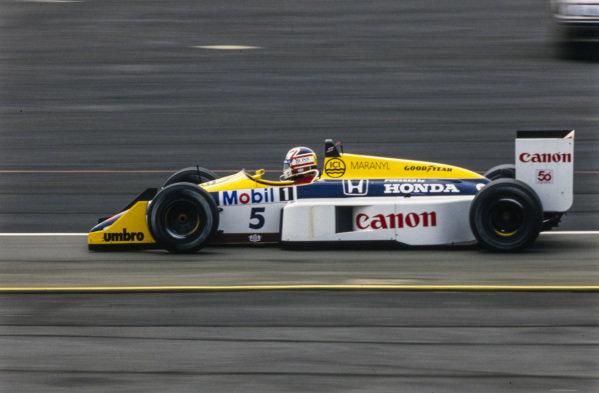 Nigel Mansell, Williams FW11B Honda.