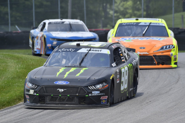 #98: Riley Herbst, Stewart-Haas Racing, Ford Mustang Monster Energy