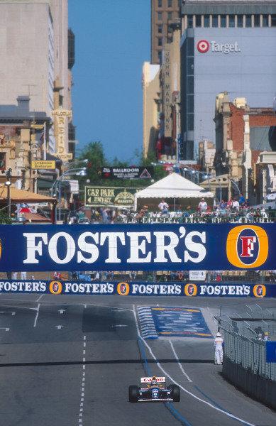 1993 Australian Grand Prix.Adelaide, Australia.5-7 November 1993.Damon Hill (Williams FW15C Renault) 3rd position.Ref-93 AUS 31.World Copyright - LAT Photographic
