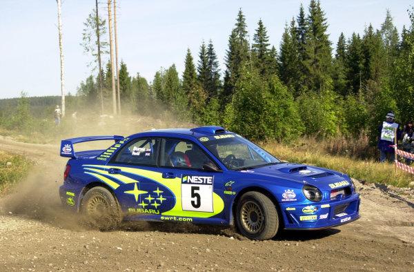 2001 World Rally Championship.Neste Rally Finland. Jyvaskyla, August 24-26, 2001.Richard Burns on the first stage.Photo: Ralph Hardwick/LAT
