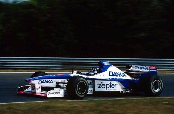 1997 Hungarian Grand Prix.Hungaroring, Budapest, Hungary.8-10 August 1997.Damon Hill (Arrows A18 Yamaha) 2nd position.World Copyright - LAT Photographic