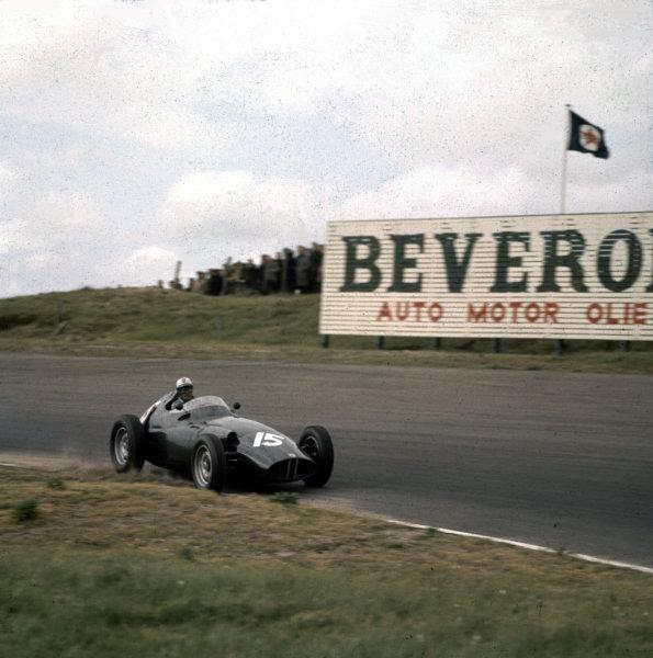 1958 Dutch Grand Prix.Zandvoort, Holland.23-25 May 1958.Harry Schell (BRM P25) 2nd position.Ref-3/0017.World Copyright - LAT Photographic