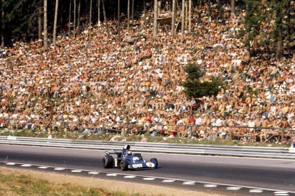 1973 Austrian Grand Prix.Osterreichring, Austria. 19 August 1973.Jackie Stewart, Tyrrell 006-Ford, 2nd position, action.World Copyright: LAT PhotographicRef: 35mm transparency