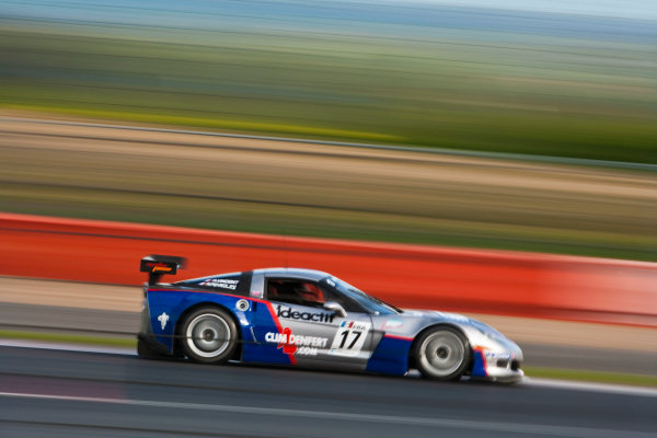 Silverstone, England. 30th April - 2nd May 2010. Arnaud Vincent / Arnaud  Peyroles (Graff Racing Corvette Z06R) Action. World Copyright: Drew Gibson/LAT Photographic. Digital Image _Y2Z3562