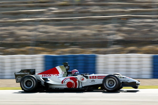 Tony Kanaan (BRA) BAR Honda 007. Formula One Testing, Day Three, Jerez, Spain, Thursday 29 September 2005. DIGITAL IMAGE