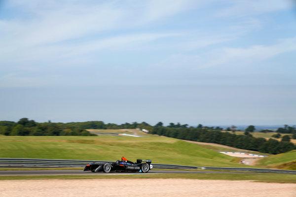 FIA Formula E Season 3 Testing - Day Two. Loic Duval, Faraday Future Dragon Racing, Spark-Penske. Donington Park Racecourse, Derby, United Kingdom. Wednesday 24 August 2016. Photo: Adam Warner / LAT / FE. ref: Digital Image _14P2401