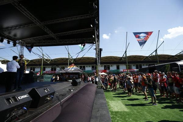 2017 FIA Formula 2 Round 7. Hungaroring, Budapest, Hungary. Saturday 29 July 2017. Nicholas Latifi (CAN, DAMS).  Photo: Andy Hone/FIA Formula 2. ref: Digital Image _ONZ9595
