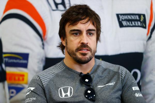 Baku City Circuit, Baku, Azerbaijan. Thursday 22 June 2017. Fernando Alonso, McLaren.  World Copyright: Steven Tee/LAT Images ref: Digital Image _R3I1229