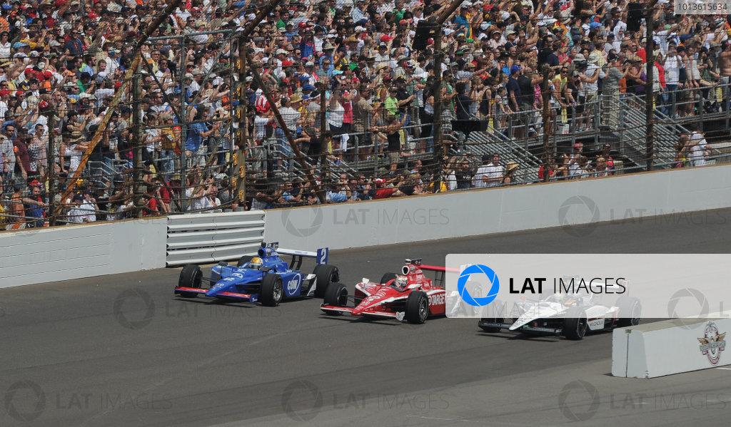 29  May 2011, Indianapolis, Indiana USA#77 Alex Tagliani with Scott Dixon and Oriol Servia.©2011 Dan R. Boyd Lat Photo USA