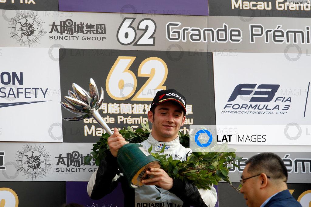 2015 Macau Formula 3 Grand Prix Circuit de Guia, Macau, China 18th - 22nd November 2015 2nd Charles Leclerc (MON) Van Amersfoort Racing Dallara Volkswagen World Copyright: XPB Images/LAT Photographic ref: Digital Image 2015-Macau-F3-AT2-3832