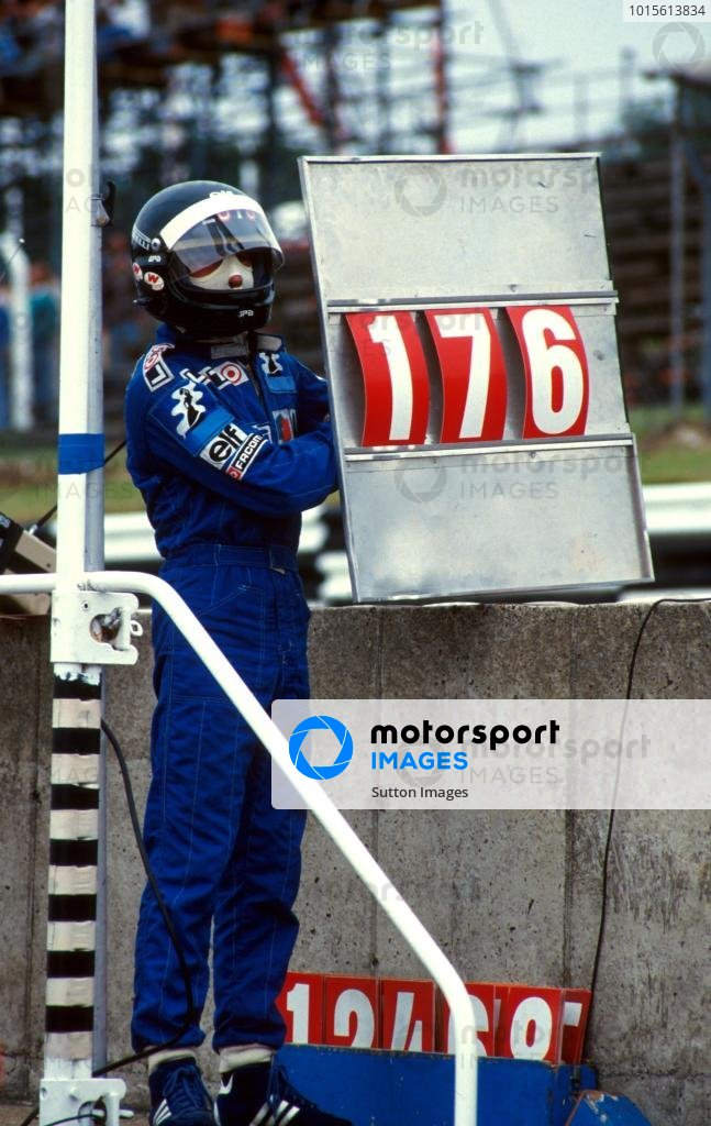 Jacques Laffite (FRA) Ligier equalled Graham HillÕs record 176 Grand Prix starts, but unfortunately broke both legs in a career ending crash on the first lap. 