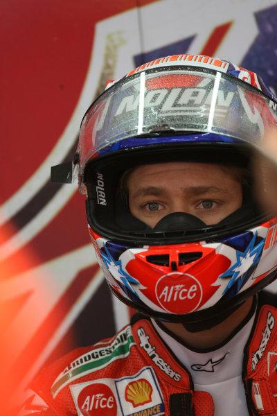 Ricardo Tormo Circuit, Valencia, Spain.24th - 26th October 2008.Casey Stoner Ducati Marlboro Team.World Copyright: Martin Heath / LAT Photographicref: Digital Image BPI_Moto 649g