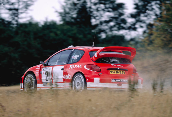 2003 World Rally ChampionshipRally Deutschland, Germany. 25th - 27th July 2003.Richard Burns / Robert Reid (Peugeot 206 WRC), action.World Copyright: McKlein/LAT Photographicref: 35mm Image A16