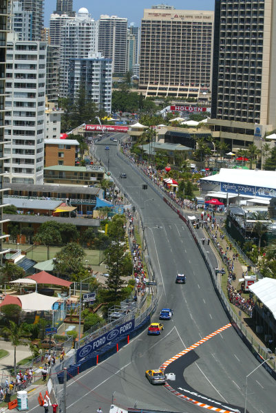 2003 Australian V8 SupercarsSurfers Paradise, Australia. October 25th 2003. The streets of the Gold Coast hot up during the Gillette V8 Supercar event at the Lexmark Indy 300.World Copyright: Mark Horsburgh/LAT Photographicref: Digital Image Only