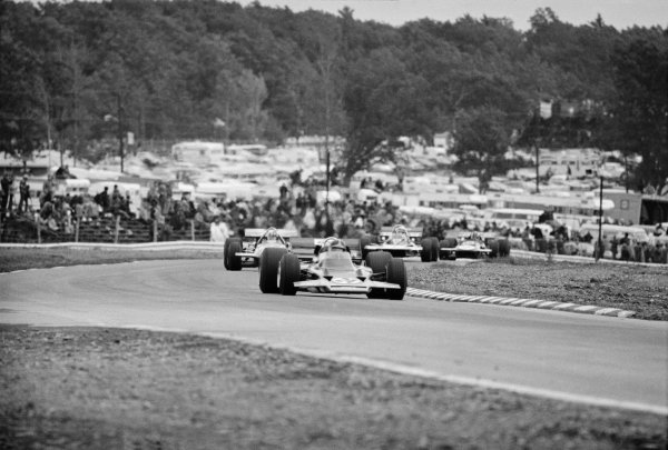 Watkins Glen, New York, USA 4th October 1970 Emerson Fittipaldi (Lotus 72C-Ford), 1st position, action. World Copyright: LAT Photographic Ref: 3344_39A-40