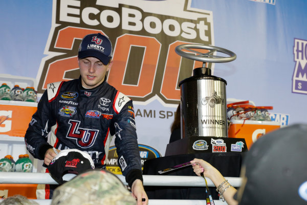 18 November, 2016, Homestead, Florida USA William Byron wins Ford EcoBoost 200 ©2016, Barry Cantrell / LAT Photo USA