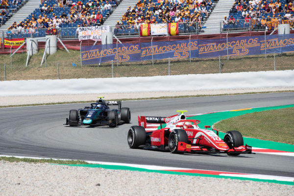 Sean Gelael (IDN,PREMA RACING) and Nicholas Latifi (CAN, DAMS)