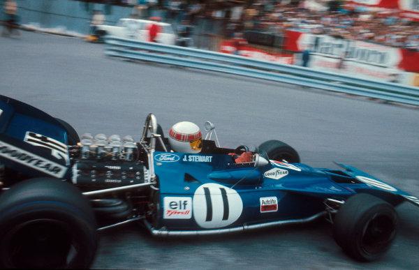1971 Monaco Grand Prix.Monte Carlo, Monaco.20-23 May 1971.Jackie Stewart (Tyrrell 003 Ford) 1st position.Ref-71 MON 01.World Copyright - LAT Photographic