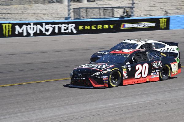 #20: Erik Jones, Joe Gibbs Racing, Toyota Camry Reser's Fine Foods, #10: Aric Almirola, Stewart-Haas Racing, Ford Mustang Smithfield