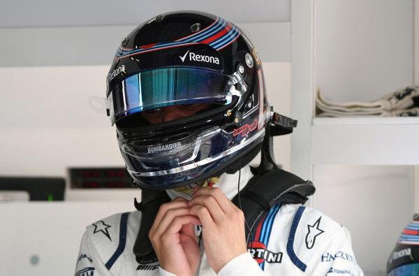 Lance Stroll (CDN) Williams at Formula One World Championship, Rd9, Austrian Grand Prix, Qualifying, Spielberg, Austria, Saturday 8 July 2017.