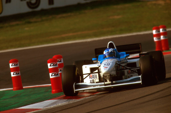 Nurburgring, Germany.26-28 April 1996.Mika Salo (Tyrrell 024 Yamaha) who was disqualified for his car being underweight.Ref-96 EUR 10.World Copyright - LAT Photographic