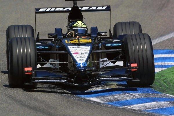 Tarso Marques(BRA) European Minardi PS01 German Grand Prix Practice, Hockenheim 27 July 2001 DIGITAL IMAGE