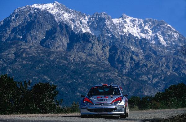 2002 World Rally ChampionshipTour De Corse, Corsica. 8th - 10th March 2002.Peugeot 206 WRC, action.World Copyright: McKlein/LAT Photographicref: 35mm Image 02 WRC 18