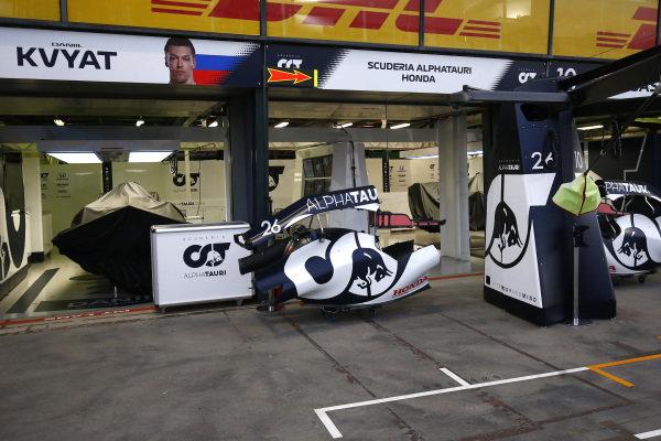 The AlphaTauri garage