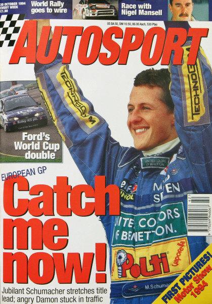 Cover of Autosport magazine, 20th October 1994