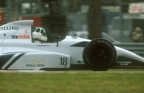 1991 San Marino Grand Prix.Imola, Italy.26-28 April 1991.Fabrizio Barbazza (AGS JH25 Ford). He failed to qualify.Ref-91 SM 05.World Copyright - LAT Photographic