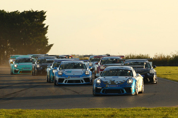 Porsche Carrera Cup GB Start - Will Martin Leads