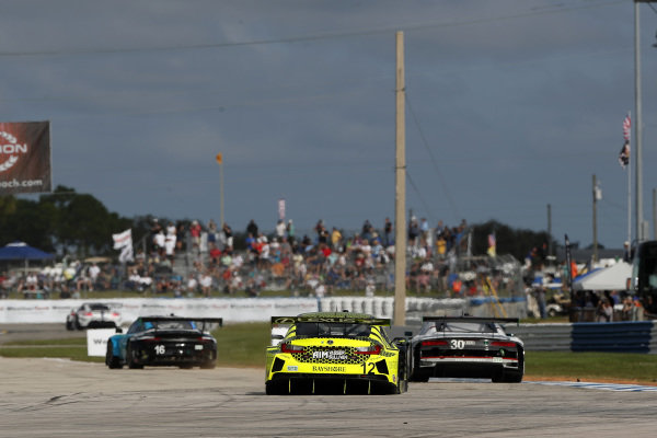 #16 Wright Motorsports Porsche 911 GT3 R, GTD: Ryan Hardwick, Patrick Long, Jan Heylen #12 AIM Vasser Sullivan Lexus RC-F GT3, GTD: Frankie Montecalvo, Townsend Bell, Michael De Quesada, #30 Team Hardpoint Audi R8 LMS GT3, GTD: Rob Ferriol, Andrew Davis, Pierre Kaffer