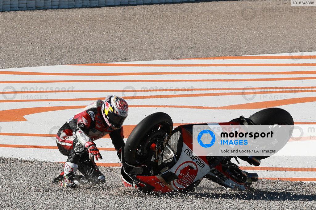 Takaaki Nakagami, Team LCR Honda crash.