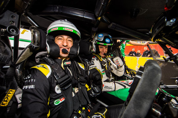Daniel Ricciardo tests Kelly Racing Nissan Supercar at Calder, and takes a passenger ride with Rick Kelly