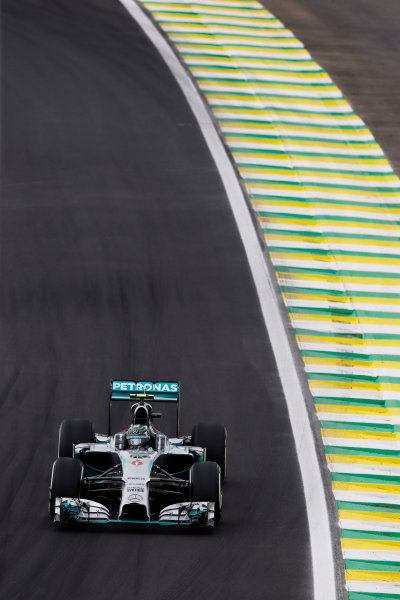 Interlagos, Sao Paulo, Brazil. Saturday 8 November 2014. Nico Rosberg, Mercedes F1 W05 Hybrid. World Copyright: Charles Coates/LAT Photographic. ref: Digital Image _N7T9550