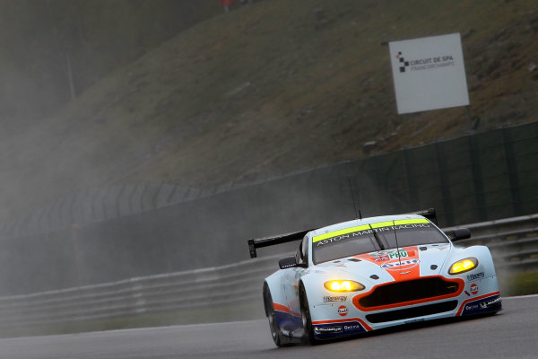 2015 FIA World Endurance Championship, Spa-Francorchamps, Belgium. 30th April - 2nd May 2015. Darren Turner / Stefan Mucke / Rob Bell Aston Martin Racing Aston Martin Vantage V8/ World Copyright: Ebrey / LAT Photographic.
