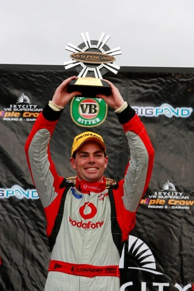 Craig Lowndes, (aust) Vodafone 888 Ford won his first round for the season