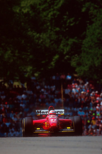 Imola, Italy.29/4-1/5 1994.Nicola Larini (Ferrari 412T1) 2nd position.Ref-94 SM 02.World Copyright - LAT Photographic