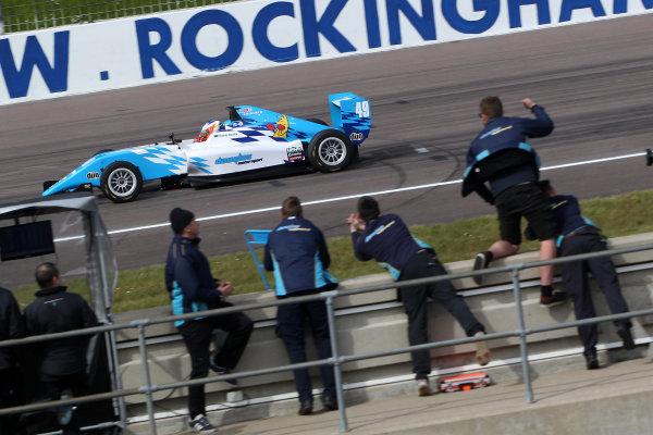 2016 BRDC British Formula 3 Championship, Rockingham, Northamptonshire.  30th April - 1st May 2016. Thomas Randle (AUS) Douglas Motorsport BRDC F3. World Copyright: Ebrey / LAT Photographic.
