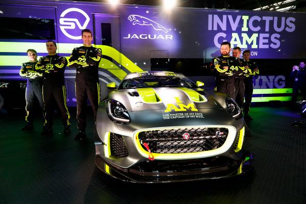 Autosport International Exhibition. National Exhibition Centre, Birmingham, UK. Thursday 11th January 2017. The Invictus Games Jaguar F-Type GT4 launch.World Copyright: Glenn Dunbar/LAT Images Ref: _31I2373