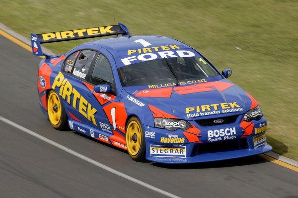 2004 Australian V8 Supercars.Non-Championship Round. Albert Park, Melbourne, 5th - 7th March.Champion Marcos Ambrose in action in his Ford Falcon BA.World Copyright: Mark Horsburgh/LAT Photographicref: Digital Image Only