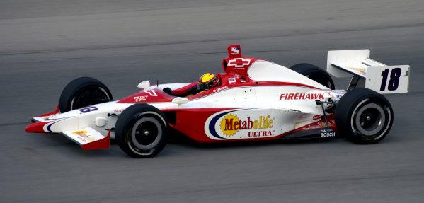 2003 IRL IndyCar Chicagoland Speedway, Chicago, Illinois 8/5-8/7/03 USAEd CarpenterWorld Copyright-Walt Kuhn 2003 LAT Photographicref: Digital Image Only
