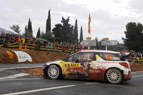 Thierry Neuville (BEL) and Nicolas Gilsoul (BEL), Citroen DS3 WRC on stage 8. Digital Image